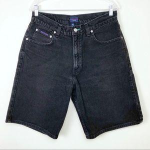 Vintage Men's Tommy Hilfiger Black Denim Shorts
